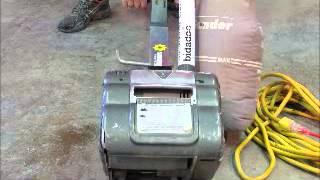 "For Sale Hiretech HT8-1 Hardwood Floor Sander 110V 8"" Drum bidadoo bidadoo.com"