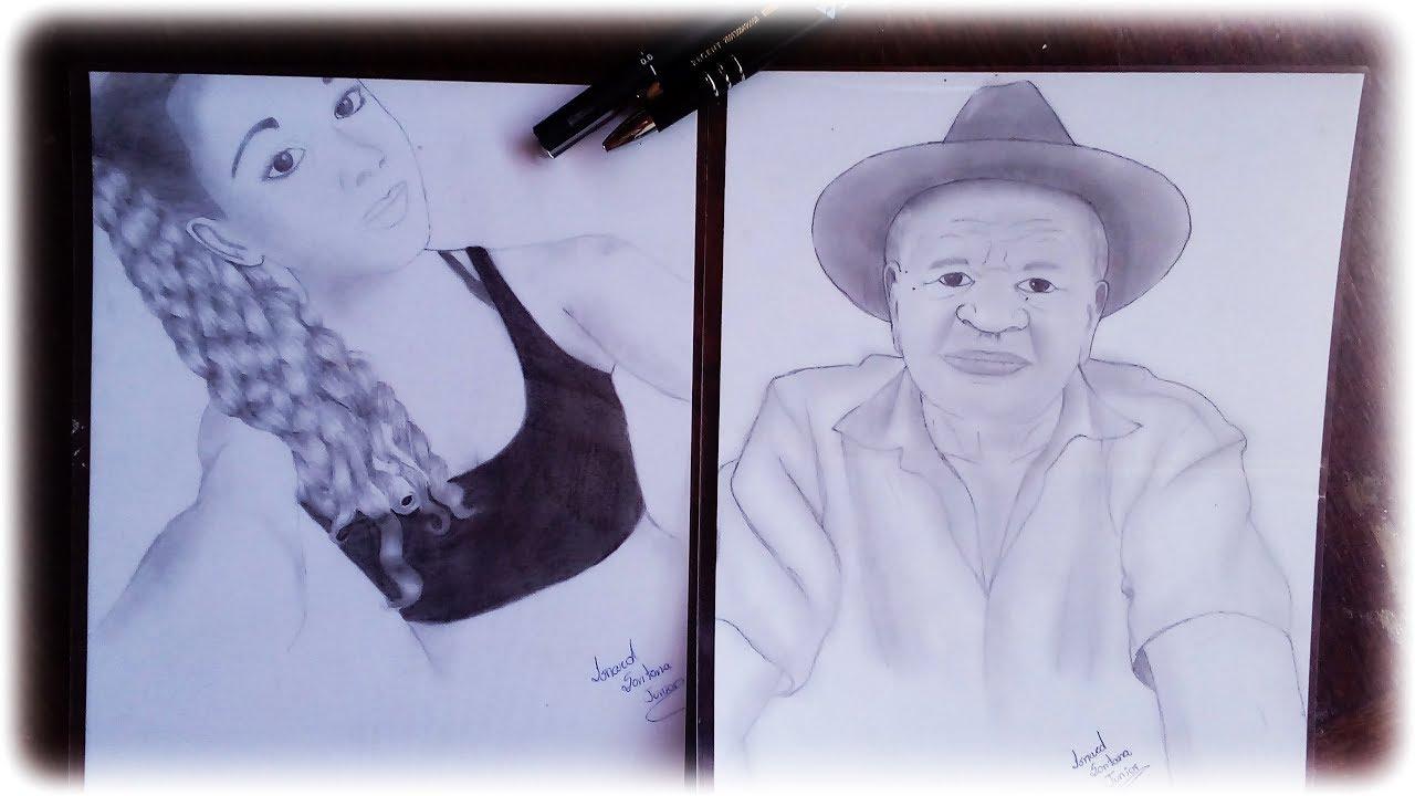 Desenhos De Pessoas A Lápis - By Isnard