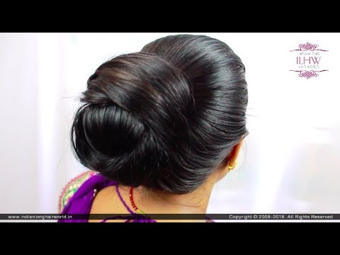 Easy Bun Hairstyle for Home & Work | Indian Hairstyle | Bun ...