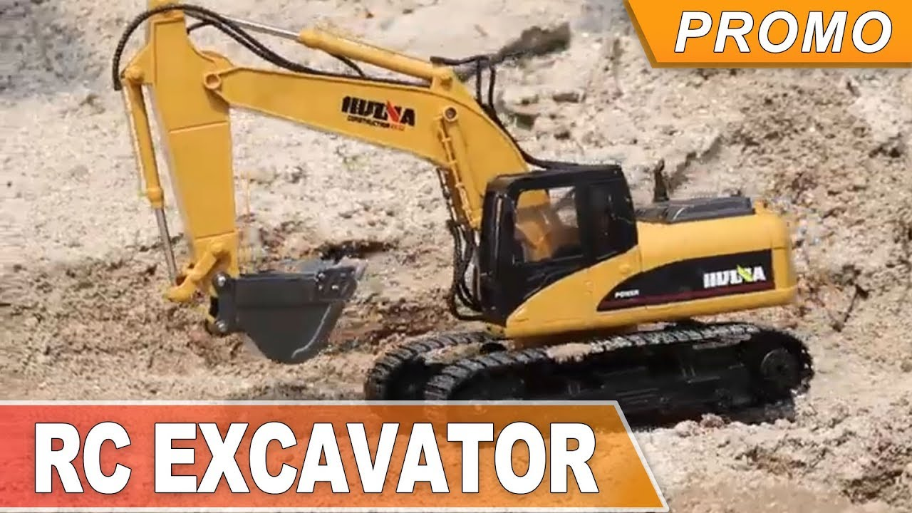 HuiNa Toys 1550 15Channel 2 4G 1/12RC Metal Excavator Charging RC Car