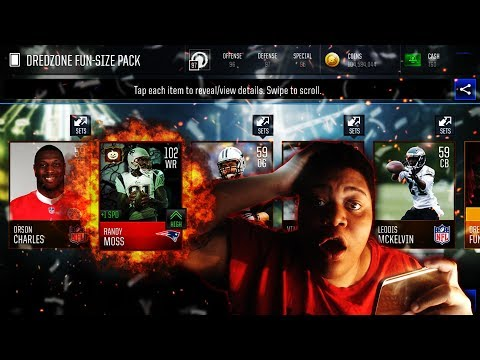 102 OVR RANDY MOSS MOST FEARED RARE PULL! MADDEN MOBILE 18 MOST FEARED PROMO