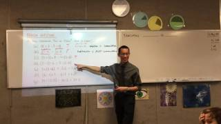 Translating Words to Algebra (1 of 2: Reviewing Commutative, Associative & Distributive Numbers)