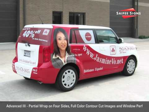 Options for Mini Van and Car Graphics by Saifee Signs, Houston, TX