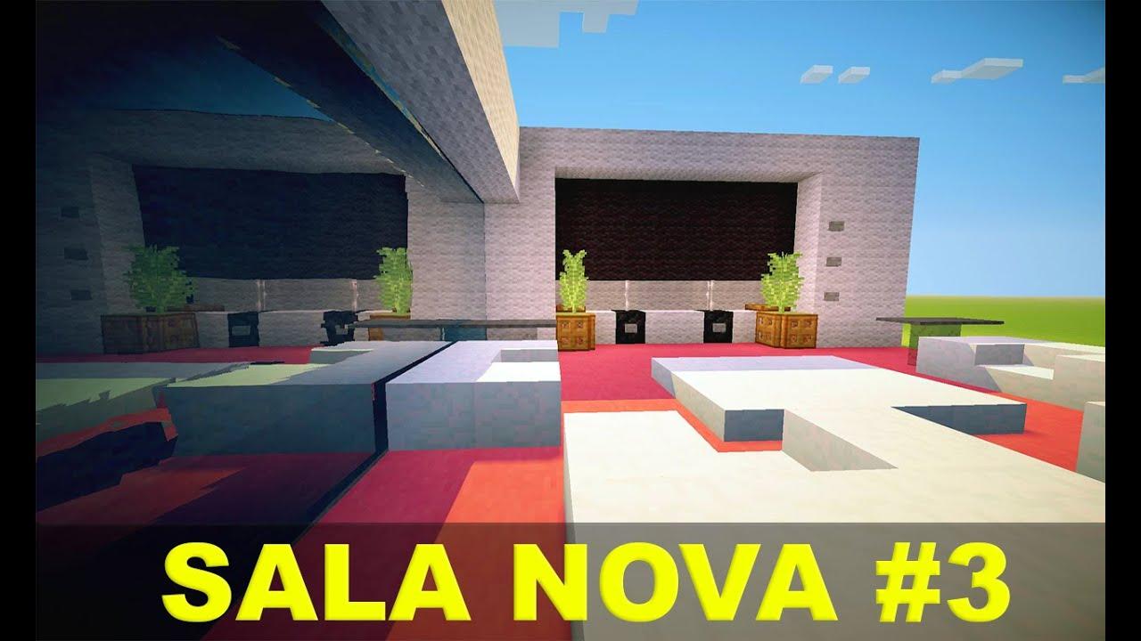 Minecraft tutorial c modos e m veis sala 3 youtube for Sala de estar no minecraft