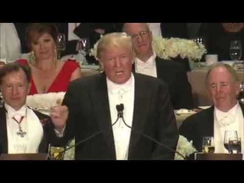Hillary Clinton and Donald Trump full speech at the Alfred E Smith Memorial Dinner in NY 10/20/16