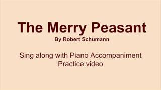 The Merry Peasant piano accompaniment sing along