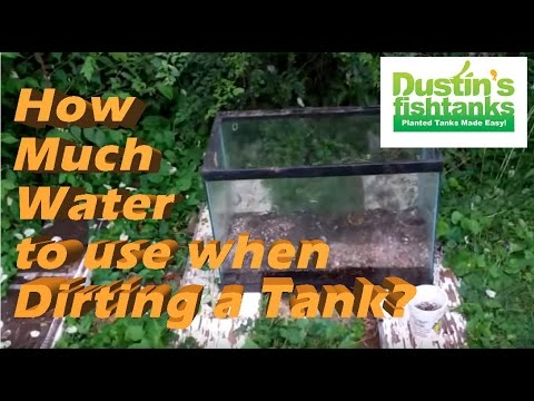 Planted Aquarium Substrate Tips: How Much Water When You Dirt A Tank