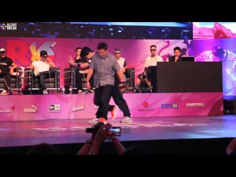 ISSEI v WING / Semi Finals / R16 2014 Final Bboy 1 on 1 / Allthatbreak.com