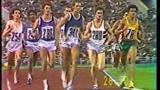 1980 Olympics in Moscow the 800m final - winner Steve Ovett
