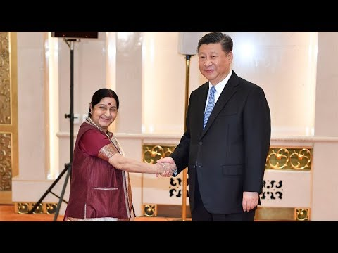 Sushma Swaraj holds talks with Chinese President Xi Jinping in Beijing