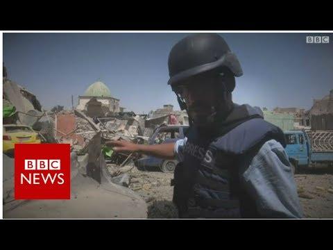 At the ruins of al-Nuri mosque in Mosul - BBC News
