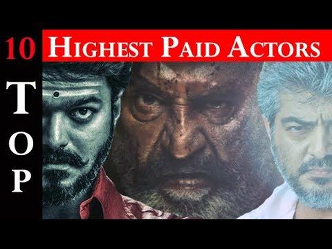 2018 Top 10 Tamil actors Salary   Vijay  Thala ajith  Rajini  Viswasam  Thalapathy 62 Title