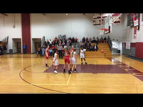 Hampshire High School's Katelyn Pickunka scores her 1,000th career point