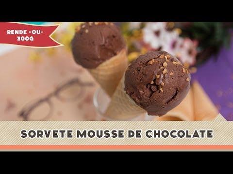Sorvete Mousse de Chocolate - Receitas de Minuto #145