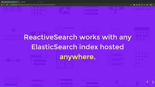 Building data-driven applications with ReactiveSearch