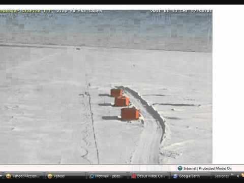 Is that a FAKE SUN at Neumayer Research Station in Antarctica!?