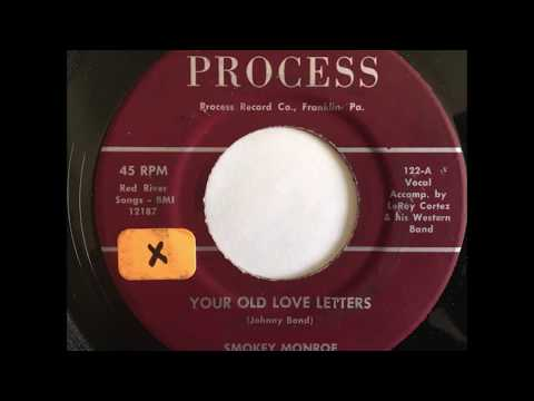 "Smokey Monroe ""Your Old Love Letters"" 1964 Obscure Country 45 RPM Record"