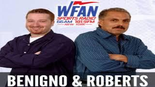 Joe Benigno & Evan Roberts open-1st Mike Francesa WFAN bumper,Jets-Sam Darnold,Giants-Saquon Barkley