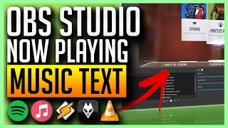OBS Studio - Scrolling Music Text with Spotify, iTunes, Winamp, Foobar, VLC