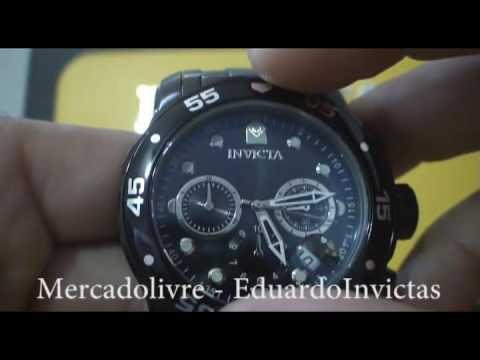 14d61ae7373 Relógio Invicta 0076 Pro Diver Masculino - YouTube