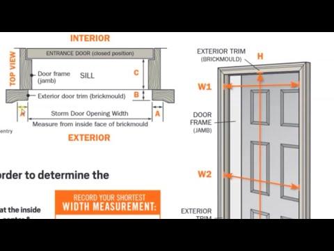 How To Measure The Right Size Screen Door   Order The Correct Width Storm Door
