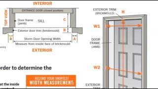 How to Measure tнe Right Size Screen Door | Order the Correct Width Storm Door Instructions