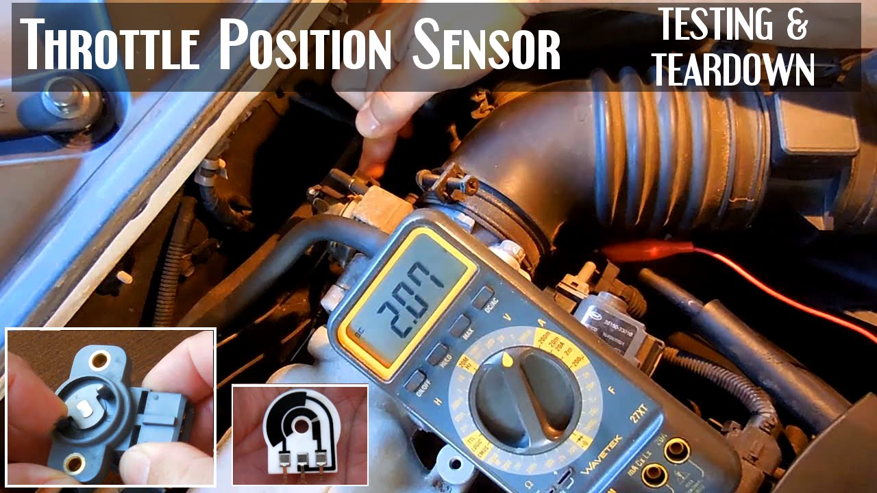4 Wire Electrical Wiring Diagram How To Test A Throttle Position Sensor Tps Youtube