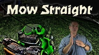 How To Mow Straight Lines In Your Lawn