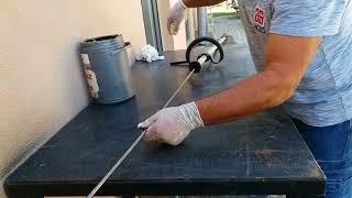 Tırpan makinasının şaftı nasıl yağlanır How to lubricate and assemble the blade of a scythe machine
