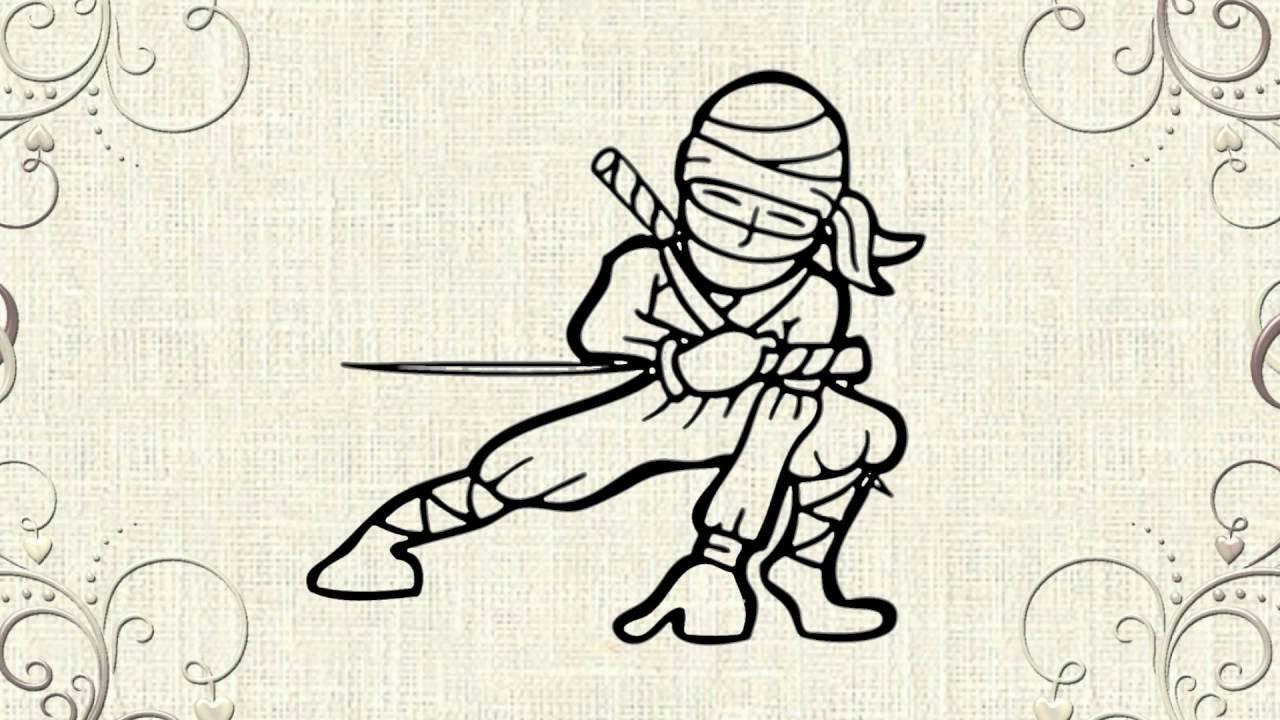 Draw a ninja super cool ninja youtube for Super cool drawings