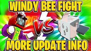 Windy Bee Fight And More Update NEWS In Roblox Bee Swarm Simulator