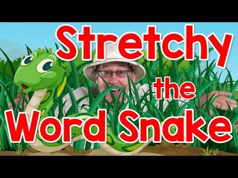 Stretchy the Word Snake | Phonics Song for Kids | Segmenting and Blending Words | Jack Hartmann
