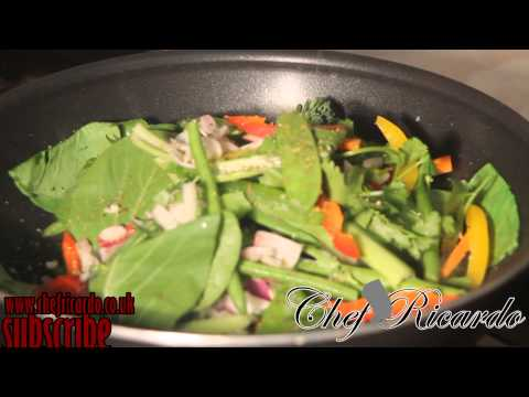 How To Make Fresh Fried Up Vegetarian Dish | Recipes By Chef Ricardo