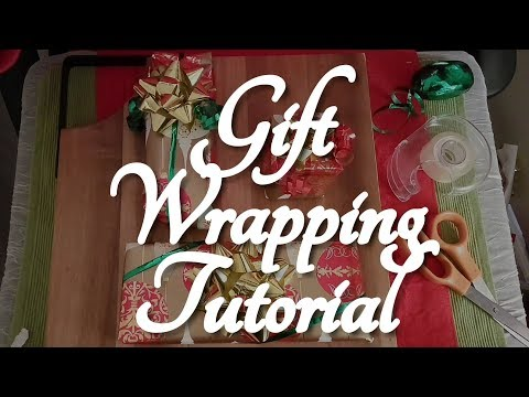 ASMR How to Wrap a Christmas Gift (Tutorial)   ☀365 Days of ASMR☀