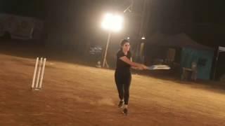 Katrina Kaif plays cricket at Bharat film set