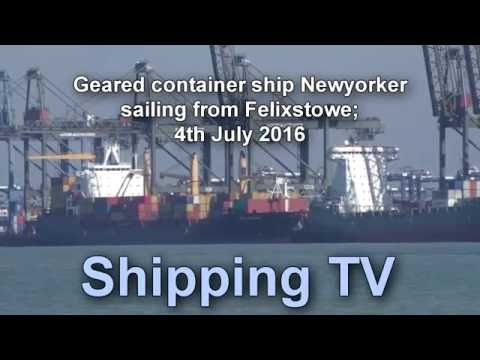 Newyorker sailing from Felixstowe 4th July 2016