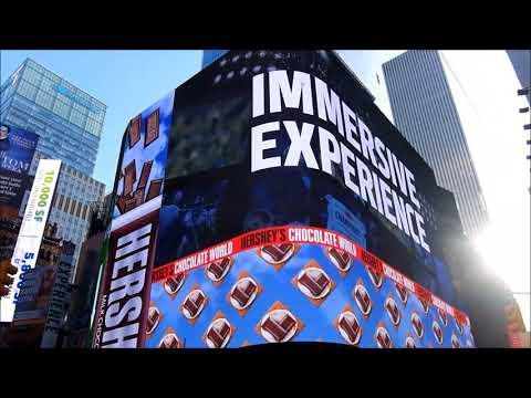 Huge Billboard of Hershey's Chocolate World Times Square (New York City)