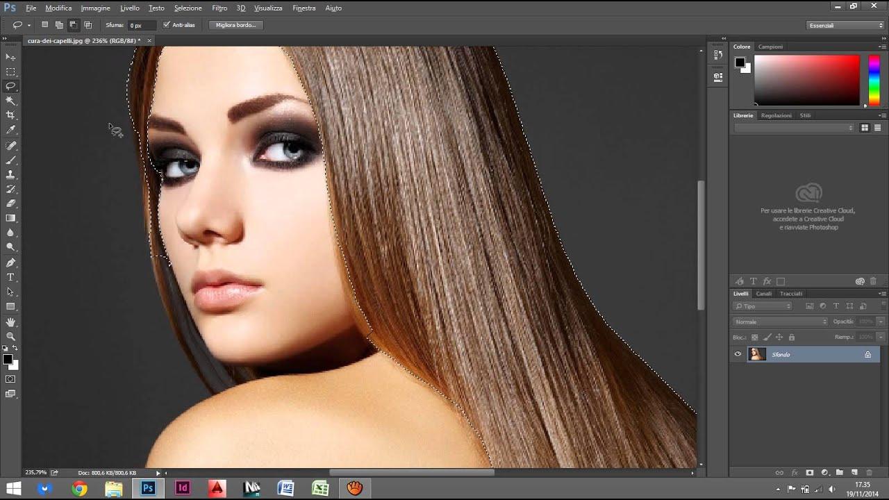 Come cambiare colore capelli foto