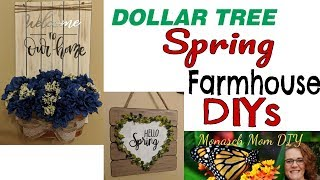 DOLLAR TREE SPRING FARMHOUSE DIY DECOR #dollartree #farmhouse #spring #decor #diy