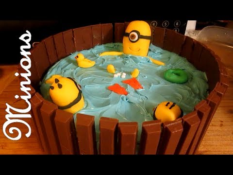 DESPICABLE ME MINION HOT TUB CAKE KIT KAT
