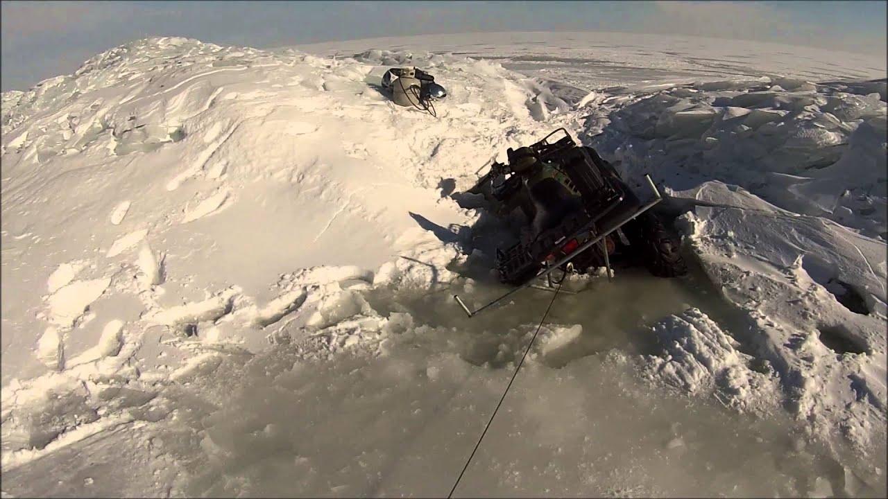 Polaris sportsman 500 through the ice saginaw bay 2014 for Saginaw bay fishing