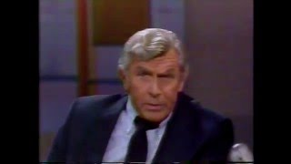 Andy Griffith on David Letterman 1985
