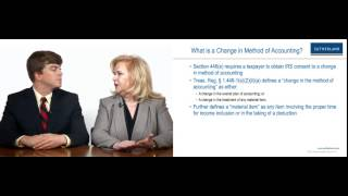 Videocast: Methods of Accounting: Changes in Methods of Accounting