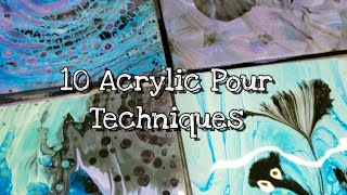 10 Acrylic Pours in 10 Minutes - Satisfying and Easy Fluid Art! Part 1