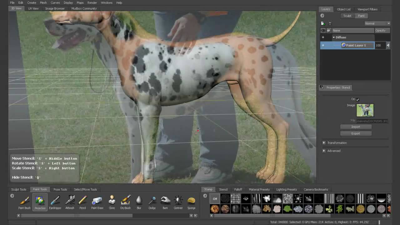 Genom: Create 3D dog - YouTube