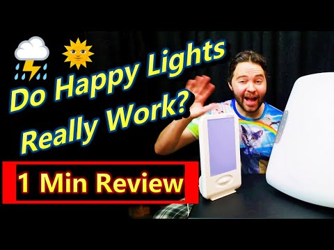 Happy Lights for Depression SAD (Does Light Therapy Really Work Review?)