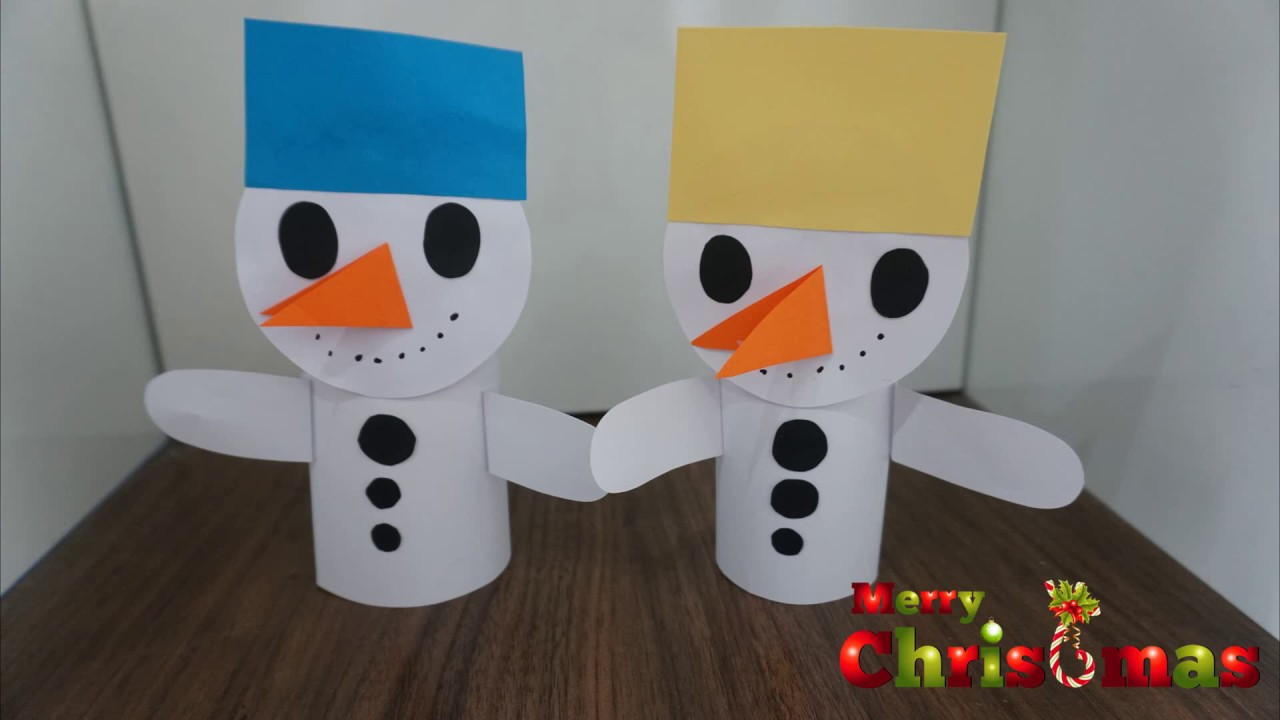 Snowman Christmas Craft For Kids Christmas Tree Decoration
