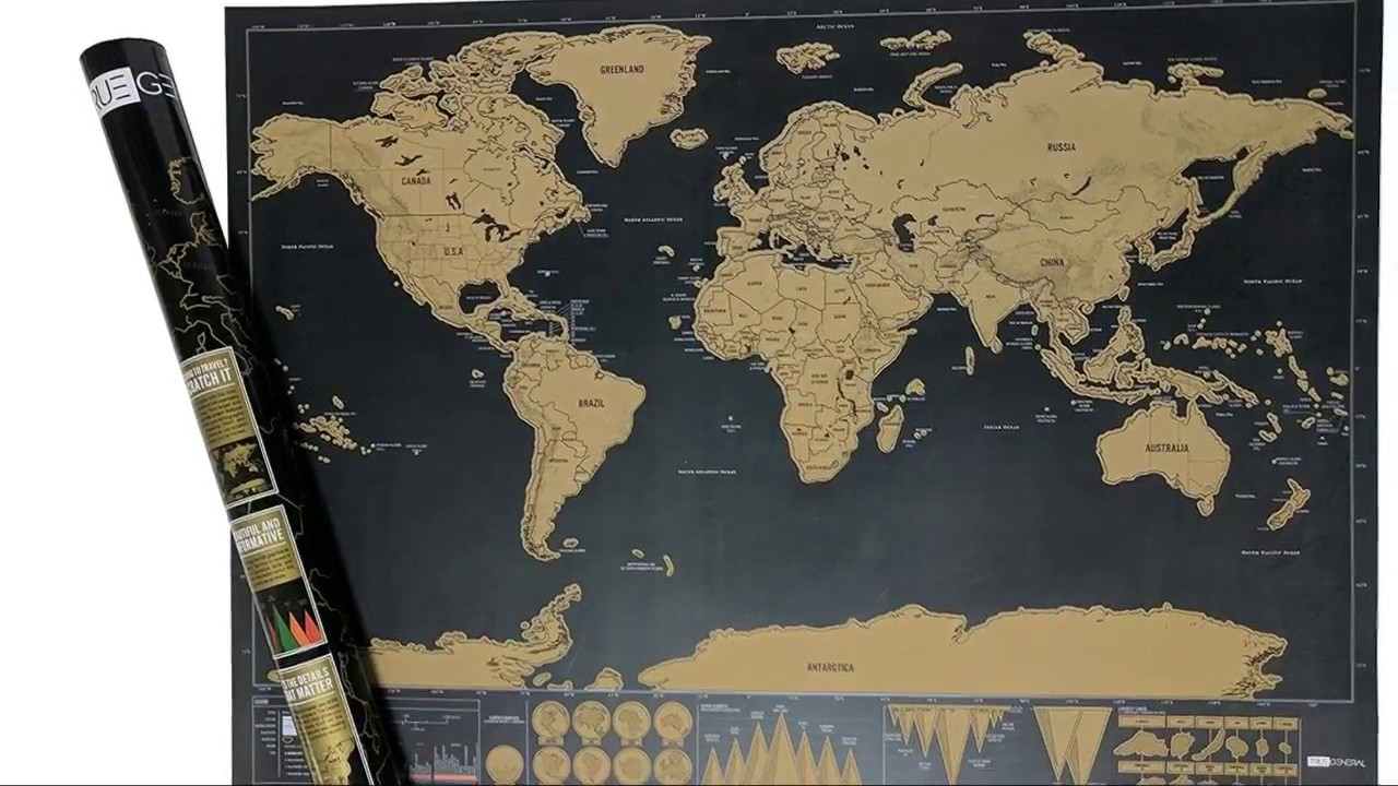 Deluxe scratch off world map youtube deluxe scratch off world map gumiabroncs Images