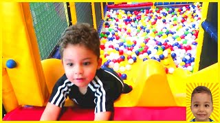 Indoor Playground family fun for kids with Ethan and Callum