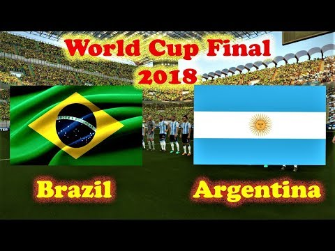 Brazil vs Argentina | World Cup 2018 Final | PES 2018 Gameplay HD